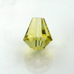 Chinese Cut Crystal Bead - Cone 06x5MM JONQUIL