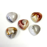 Gemstone Cabochon - Heart 12MM MEXICAN CRAZY LACE