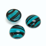 Glass Medium Dome Cabochon - Round 15MM BLUE TORTOISE