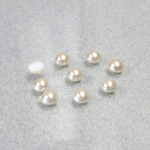 Czech Glass Cabochon Pearl - Round 02.5MM CREME