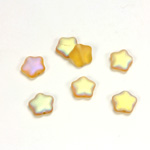 Czech Pressed Glass Bead - Star 08MM MATTE TOPAZ AB