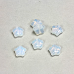 Czech Pressed Glass Bead - Star 08MM WHITE OPAL