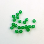 Czech Pressed Glass Large Hole Bead - Round 04MM CHRYSOPHRASE