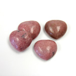 Gemstone Cabochon - Heart 16MM RHODONITE