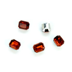 Plastic Point Back Foiled Stone - Cushion Octagon 08x6MM SMOKE TOPAZ