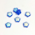 Czech Pressed Glass Bead - Star 08MM MATTE SAPPHIRE AB