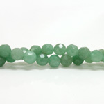 Gemstone Bead - Faceted Round 08MM AVENTURINE-GREEN