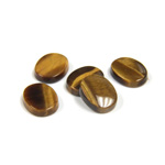 Gemstone Flat Back Single Bevel Buff Top Stone - Oval 10x8MM TIGEREYE