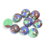 Synthetic Cabochon - Round 09MM Matrix SX11 GREEN-BLUE-BROWN