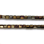 Czech Glass Fire Polished Bead - Atlas 04x4MM IRIS BROWN