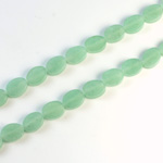 Gemstone Bead - Flat Top Oval 08x6MM AVENTURINE-GREEN