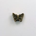 Metalized Plastic Bead - Butterfly 12x9 ANT GOLD