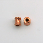 Metalized Plastic Bead - Hourglass Tube 08x6MM COPPER
