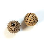 Brass Corrugated Bead - Fancy Pierced Round 12MM RAW