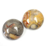 Gemstone Cabochon - Round 20MM MEXICAN CRAZY LACE