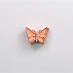 Metalized Plastic Bead - Butterfly 12x9 COPPER