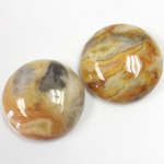 Gemstone Cabochon - Round 25MM MEXICAN CRAZY LACE