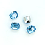 Plastic Point Back Foiled Stone - Cushion Octagon 10x8MM LT SAPPHIRE