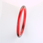 Acrylic Bangle -  Round Domed 9MM RUBY
