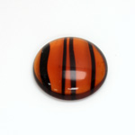 Glass Medium Dome Cabochon - Round 25MM TORTOISE