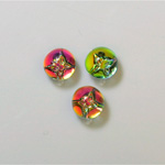 Glass Flat Back 3/4 Ball with Butterfly 08MM IRIDIS