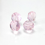 Chinese Cut Crystal Bead - Round Disc Side Drilled 06MM ROSALINE