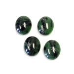 Gemstone Cabochon - Oval 12x10MM ZOISITE RUBY