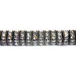Czech Rhinestone Rondelle - Square 04.5MM CRYSTAL-BLACK
