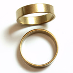 Brass Finger Ring Size 8 - 0.191 inch Round