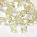 Chinese Cut Crystal Bead - Round Disc Side Drilled 04MM JONQUIL