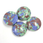 Synthetic Cabochon - Round 15MM Matrix SX11 GREEN-BLUE-BROWN