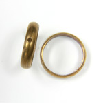 Brass Bead Frames - Rings Side Drilled 2-Holes 12MM