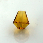 Chinese Cut Crystal Bead - Cone 06x5MM TOPAZ