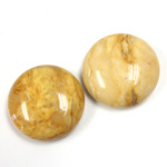 Gemstone Cabochon - Round 20MM YELLOW JASPER