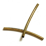 Brass Curved Bead - Hollow Tube 25x1.5MM RAW