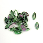 Gemstone Cabochon - Navette 08x4MM ZOISITE RUBY