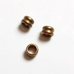 Brass Machine Made Bead - Fancy Tube 02.7MM RAW BRASS