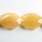 Gemstone Bead - Faceted Octagon 25x20MM Dyed QUARTZ Col. 05 BEIGE