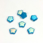 Czech Pressed Glass Bead - Star 08MM MATTE AQUA AB