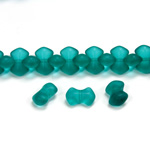 Czech Pressed Glass Bead - Smooth Bow 09x5MM MATTE ZIRCON