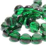Chinese Cut Crystal Bead - Round Disc Side Drilled 06MM DARK EMERALD