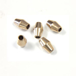 Brass Bead - Lead Safe Machine Made Smooth Spacer Bicone 06x3.5MM RAW BRASS