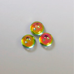 Preciosa Glass Flat Back 3/4 Ball Foiled with Smile - 08MM HELIO RED