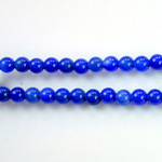 Gemstone Bead - Smooth Round 1.5MM Diameter Hole 06MM HOWLITE DYED LAPIS