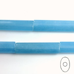 Gemstone Bead - Oval Cylinder 30x8MM Dyed QUARTZ Col. 12 CALCEDON