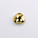 Metalized Plastic Pendant- Faceted Drop 12x11MM GOLD