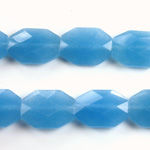 Gemstone Bead - Faceted Octagon 18x13MM Dyed QUARTZ Col. 12 CALCEDON