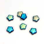Czech Pressed Glass Bead - Star 08MM MATTE JET AB