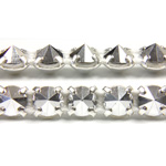Preciosa Metal Spike Banding 1 Row - Round 19SS COMET ARGENT LIGHT/SILVER