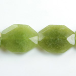 Gemstone Bead - Faceted Octagon 25x20MM Dyed QUARTZ Col. 23 TAIWAN JADE